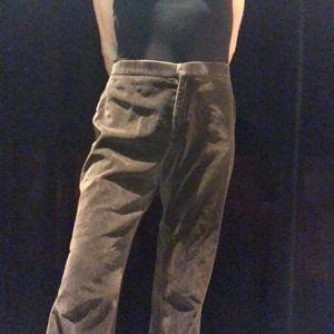 Ralph Lauren brown soft velvety pant, size 8
